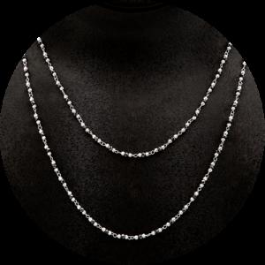 Collar de oro blanco y onix